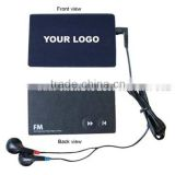Hot sales cheap radio Credit card shape retro style radio for promotion                                                                         Quality Choice