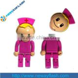 Promotional Customized 3D body organ nurse shape usb flash drive