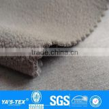 2 layers grey bamboo fabric bamboo polar fleece fabric bonding fabric for winter sportswear Bedding