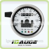 60mm White Face White LED Mechanical Motorcycle Speedometer Gauge with indicator lights