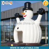 Funny stand balloon inflatable snowman bouncy for kids