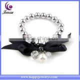 New simple beads bracelet black pearl high quality cheap famous brand bracelet ( YWH5066-3)