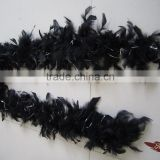Cheap Black Feather Boa With Silver Lurex For Catwalk Clothing Decorations