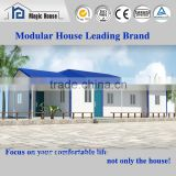 2016 hot sale certificated light steel structure villa/residential home plan/four bedroom house with rainshed