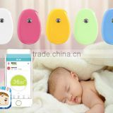 Bluetooth baby fever real-time temperature monitor wireless thermometer with alarm via mobile