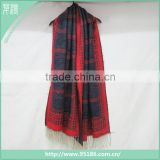 In Stock Multi Color Plaid Blanket Scarf