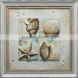 Sea shell oil painting for decoration sea view oil painting