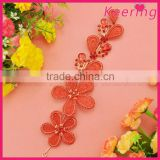 fashion fancy red flower alloy and beads baby hair decoration WHD-002                                                                         Quality Choice