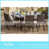 Rattan outdoor table and chair dining set                                                                                                         Supplier's Choice