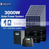 A grade 3000W solar panel price per watt photovoltaic module for 3KW solar electric power system