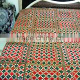Hand Embroidered Mirror work Bedsheets India