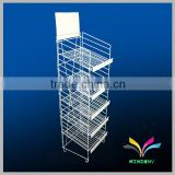 Retail Metal Collapsible Display Shelf for Bakery Pushing Sale
