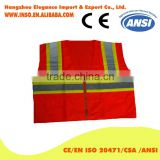 2016 latest design hot sale in Canada High Visibility Safety VEST With Pockets ANSI/ISEA 107-2010