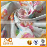 100% cotton printed baby muslin cloths fabric
