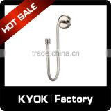 KYOK China supplier aluminium rod plastic hooks shower curtain for beach,wall mounting bracket curtain accessory