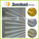 cordless polyester fabric pleated blinds plissee 2016 new product