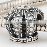 European factory custom sterling silver crown beads                                                                         Quality Choice