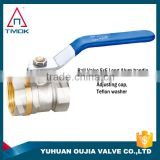 TMOK Lever handle wheel female forged full bore brass ball valve CE for lock water meter control valve ball valve