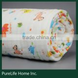 SZPLH Walmart approved factory exquisite comfortable best organic cotton muslin swaddle blanket