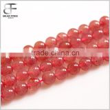 Natural Strawberry Quartz Gemstone 6mm/8mm Round Loose Beads Strand
