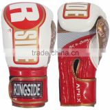 Apex Fitness Bag Boxing Gloves - White/Red/Gold Boxing Gloves MMA 6oz, 8oz, 10oz, 12oz, 14oz ADISBG100