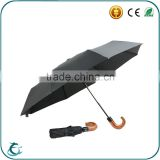 Top Quality Auto Open And Close Black Mens Folding Travel Umbrella