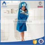 soft cotton hooded kids poncho towel
