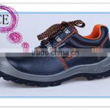 EN ISO 20345:2011 2015 black genuine leather upper dual density PU steel toe cap safety shoes hammer