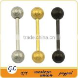 Stainless surgical steel barbell gold piercing in the tongue TR01082 with different style,stainless steel body jewelry