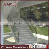 indoor stair tempered glass roman pillar design
