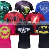 Compression T Shirt Superhero Women Superman/wonder woman Shirt Sports T Shirt Running Short Sleeve Fit Tops Guangzhou Clothing
