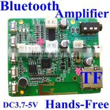 5W*2 Stereo Bluetooth Amplifier Module / Circuit Board hands-free TF card , micro usb 5v lithiutm battery 3.7V power supply
