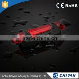 New products 3.7V Li-ion Battery Power Supply Aluminum 3w Cob Bike Laser Beam Rear Tail Light