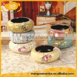 Wholesale european style decorative ceramic cigar ashtray
