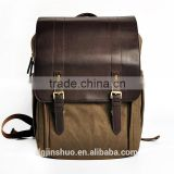 2015 CADEN Fancy Design Handmade Genuine vintage leather camera backpack                                                                         Quality Choice