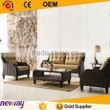 Hot sale waterproof cushion cheap outdoor wicker furniture rattan sofa with arm                                                                         Quality Choice