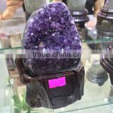 Natural Rock Amethyst Uruguay Small Geode Cluster Crystal Ornaments For Sale