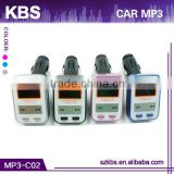 Hot-Selling radio frequency car fm mp3 modulator Built-in FM wireless transmitter