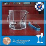 850ml shaped wine ice bucket with ice tongs