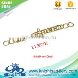 Solid Brass Double Horse Bit Chain