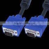HDB15 Male to HDB15 Male HDB15M-HDB15M Blue molded with double ferrite cores