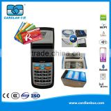 13.56MHz Contactless Linux Handheld Smart Card Readers for Amusement Park Ticketing with GPRS and Thermal Printer