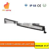 Auto parts 240W stroble led light bar for truck 41.5inch multi color led light bar RGB colorful
