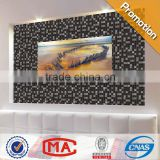 HF JTC-1316 black ice crackle glass mosaic tile silver foil mosaic tile grey wood color stone mosaic tile wall tile 15x15
