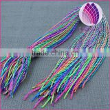 candy color braided cord bracelet thread 2mm thick 50mm length
