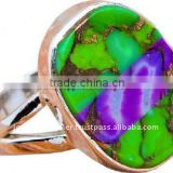 Purple Green Copper Turquoise Jewelry Accessories Wholesale Sterling Silver Charms Chains Rings