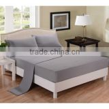 100% polyester solid color microfiber bedding sheet set including flat sheet fitted sheet and pillowcases