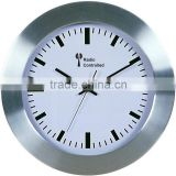Radio controlled Home Decor white Dial Aluminum Wall Clock!