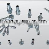 HYDRAULIC HOSE FITTINGS WITH WHITE ZINC (JIC/ DIN/ BSP/ METRIC FITTINGS)