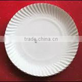 Silver Laminated 7 inch Silver white round paper plates for sale